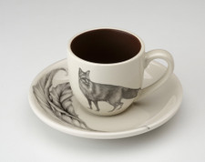Espresso Cup and Saucer: Red Fox