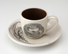 Espresso Cup and Saucer: Hedgehog #2
