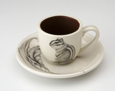 Espresso Cup and Saucer: Chipmunk #3