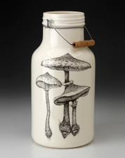 Jug with Handle: Parasol Mushroom #4