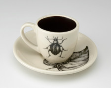 Espresso Cup and Saucer: Black Beetle