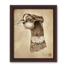 Prints : Pheasant Head 8X10 Framed
