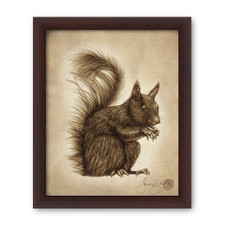 Prints : Squirrel 8X10 Framed