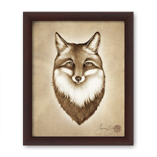 Prints : Fox Portrait, 8X10 Framed