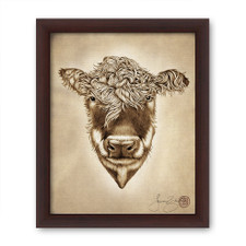 Prints : Hereford Cow, 8X10 Framed