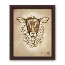 Prints : Suffolk Sheep, 8X10 Framed