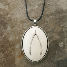 Ceramic Pendant: Wish Bone