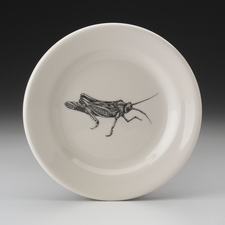 Bread Plate: Grasshopper