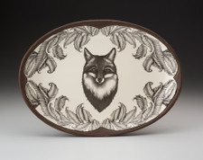 Oval Platter: Fox Portrait