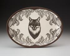 Small Oval Platter: Fox Portrait