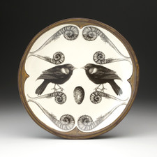 Small Round Platter: Red-Winged Blackbird