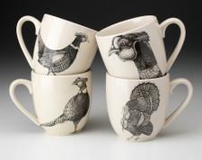 Set of 4 Mugs: Pheasant