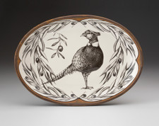 Small Oval Platter: Pheasant