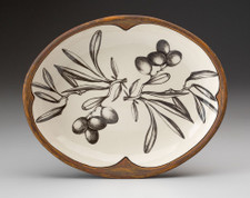 Small Serving Dish: Olive