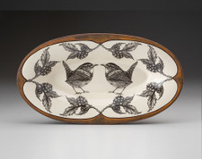 Oblong Serving Dish: Carolina Wren