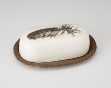 Butter Dish: Quail Feather