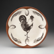 Small Round Platter: Rooster