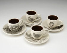 Espresso Set of 4: Quails #2
