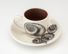 Espresso Cup and Saucer: Moon Shell