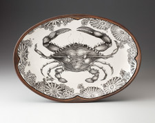 Oval Platter: Blue Crab