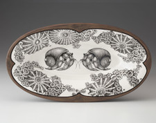Oblong Serving Dish: Hermit Crab