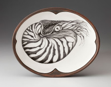 Small Serving Dish: Nautilus