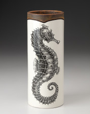 Small Vase: Seahorse