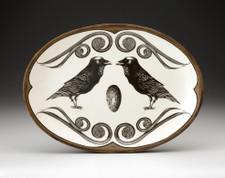 Oval Platter: Raven