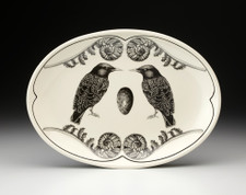 Small Oval Platter: Starling