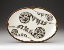 Small Oval Platter: Coiled Wood Fern
