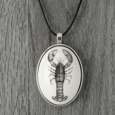 Ceramic Pendant: Lobster