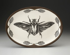 Oval Platter: Goliath Beetle Open Wing