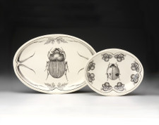 Small Oval Platter: Scarab Beetle (shown at left)