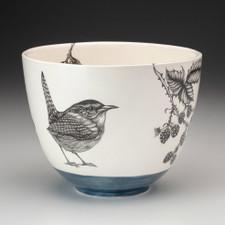 Carolina Wren handmade ceramic bowl Laura Zindel Designs
