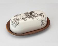 Butter Dish: Clover Buds