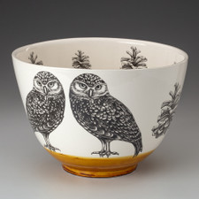 Large Bowl: Burrowing Owl
