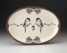 Oval Platter: Black-capped Chickadee