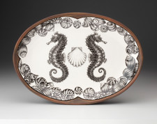 Oval Platter: Seahorse
