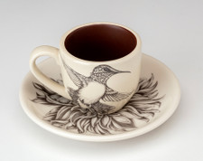 Espresso Cup and Saucer: Hummingbird #1