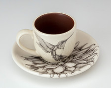 Espresso Cup and Saucer: Hummingbird #4