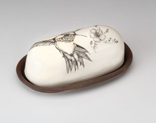 Butter Dish: Hummingbird #2