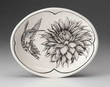 Small Serving Dish: Hummingbird #3