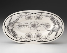 Oblong Serving Dish: Hummingbird #3