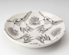 Shallow Bowl: Hummingbird #2