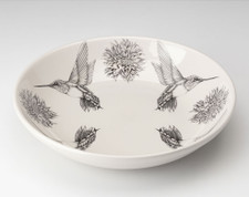 Shallow Bowl: Hummingbird #4