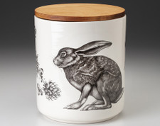 Large Canister with Lid: Crouching Hare