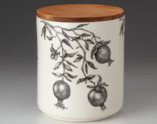Large Canister with Lid: Pomegranate
