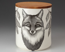 Large Canister with Lid: Fox Portrait