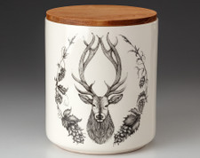 Large Canister with Lid: Red Stag
