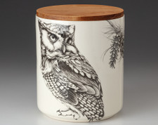 Large Canister with Lid: Screech Owl #1